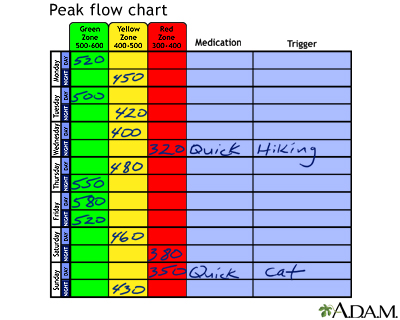 Peak Flow Meter Chart Pediatric Best Picture Of Chart Anyimage